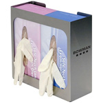 Glove Dispenser, Empty, Double, Stainless Steel, 10 1/2inch x 10inch x 3 3/4inch