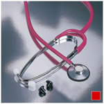 Proscope 660 Stethoscope, Nurse Scope, 22inch Tubing, Red