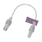 Pressure Infusion (400psig) Extension Set, 7in, Microclave, Purple Slide Clamp