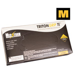 Curaplex Tritongrip TE Black Nitrile Exam Gloves, Medium *Discontinued*