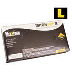 Curaplex Tritongrip TE Black Nitrile Exam Gloves, Large *Discontinued*