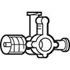 Stopcock, Large Bore, 4-Way, w/Rotating Male Luer Lock