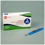 Medicut Safety Scalpel, No 10, Sterile, Disposable