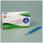 Medicut Safety Scalpel, No 11, Sterile, Disposable