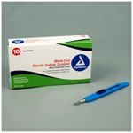 Medicut Safety Scalpel, No 15, Sterile, Disposable