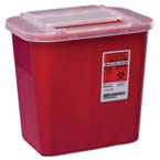 Sharps-A-Gator Container, Red, 2 Gallon
