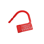 Heavy Duty PadLock Seal, Consecutively Numbered, Red