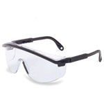 Uvex Astrospec 3000 Safety Glasses, Black Frame / Clear Lense