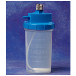 Disposable Bubble Humidifier, Blue Cap, 3 psi Safety Relief Pop-off Valve, Metal Nut