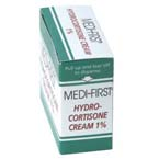 Medi-First Hydrocortisone Cream, 1%, 1gm packet, 144/bx