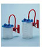 Flex Advantage Suction Liner, with Lid Shutoff Valve, 1000ml