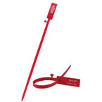 Safety Control Seals, Secur-Grip, Adj, 11inch Strap, w/o Prongs, with Numbers, Red