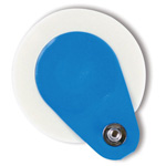BlueSensor L Monitoring Electrode, Adult, Instant and Long-Term Adhesives, Stud, Wet Gel, 25/pk