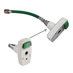 Oxygen Hose, 1 ft, w/ Chemetron Style Quick Connect Coupler x DISS O2, Conductive