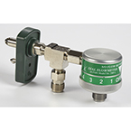 Oxygen Flowmeter, Dial, Click Style, 0-25 LPM, w/Chemetron and PTO