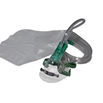 Oxygen Mask w/7 Foot Tubing w/Fits All, High Conc, Partial Non-Rebreather, Elongated, Adult