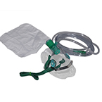 Oxygen Mask w/7 Foot Tubing w/Fits All, High Conc, Total Non-Rebreather, Elongated, Adult