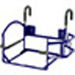 Ventilator Carrier w/Oxygen Enclosure and Bed Rail System Brackets, for Newport HT70 Plus Ventilator