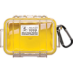 Pelican 1010 Micro Case, 4.37inch x 2.87inch x 1.68inch, Clear w/Yellow Liner