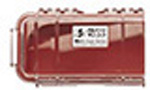 Pelican 1030 Micro Case, 6.37 inch x 2.62 inch x 2.06 inch, Clear w/Red Liner