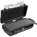 Pelican 1030 Micro Case, 6.37 inch x 2.62 inch x 2.06 inch, Solid Black
