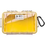 Pelican 1050 Micro Case, 6.31inch x 3.68inch x 2.75inch, Clear w/Yellow Liner