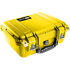 Pelican 1400 Case, 11.81 inch x 8.87 inch x 5.18 inch, Yellow No Foam