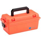 Medical Storage Box, Medium, Water Resistant, Lift Out Tray, 15inch x 8inch x 6.25inch, Orange
