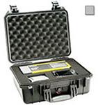 Pelican 1450 Case, 14.62inch x 10.18inch x 6.00inch, Silver w/Pick N Pluck Foam