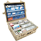1600EMS Case, with EMS Dividers, 24 1/4 in  L X 19 7/16 in X 8 11/16 in, Tan