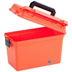 Medical Storage Box, Large, Water Resistant, Lift Out Tray, 15inch x 8inch x 10inch, Orange