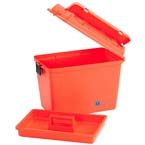 Medical Storage Box, Extra Large, Water Resistant, Lift Out Tray, 17inch x 10.38inch x 13inch, Orange