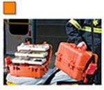 Pelican 1460EMS Case, 18.54inch x 9.92inch x 10.92inch, Orange w/Tray System