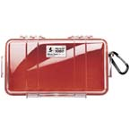 Pelican 1060 Micro Case, 8.25inch x 4.25inch x 2.25inch, Clear w/Red Liner