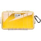 Pelican 1060 Micro Case, 8.25inch x 4.25inch x 2.25inch, Clear w/Yellow Liner*Discontinued*