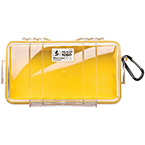 Pelican 1060 Micro Case, 8.25inch x 4.25inch x 2.25inch, Clear w/Yellow