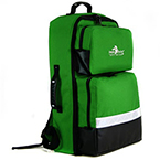 BLS Backpack, Color Coded Pouches, O2 Compartment, Green