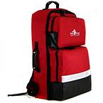 Backpack, BLS, Red, 21in L x 14in W x 8in D, incl Color Coded Pouches, Oxygen Compartment