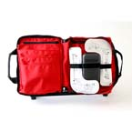 Deluxe King Vision Video Supply Bag with Pockets, Red, 13in x 10.5in x 3in