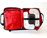 Deluxe King Vision Video Supply Bag w/Pockets, Red, 9inch x 13inch x 3.25inch