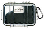 Pelican 1020 Micro Case, 5.31 inch x 3.56 inch x 1.68 inch, Clear w/Black Liner