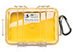 Pelican 1020 Micro Case, 5.31inch x 3.56inch x 1.68inch, Solid Yellow