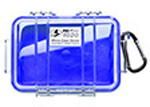 Pelican 1020 Micro Case, 5.31inch x 3.56inch x 1.68inch, Clear w/Blue Liner