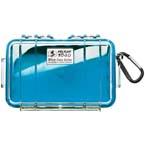 Pelican 1040 Micro Case, 6.50 inch x 3.87 inch x 1.75 inch, Clear w/Blue Liner