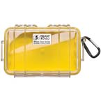 Pelican 1040 Micro Case, 6.50 inch x 3.87 inch x 1.75 inch, Clear w/Yellow Liner