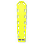 Pro-Eco Backboard, w/Pins, 72inch x 16inch x 2 1/4inch, Neon Yellow
