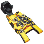 LSP Half Back Extrication/Rescue Vest, w/Removable Backboard, Head Rest, Head Harness, Washable