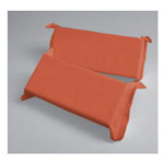 Head Blocks, w/Handle, Floatable, Disposable Foam, 4inch x 5inch, Orange