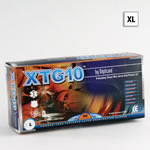 XTG10 Gloves, Latex, Powder Free, Textured Finger Tips, Double Polymer Coated, 10inch, XL *Discontinued*