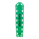Bak-Pak Ultra Backboard, without Pins, with Straps, 72inch x 16inch x 3/4inch, Kelly Green